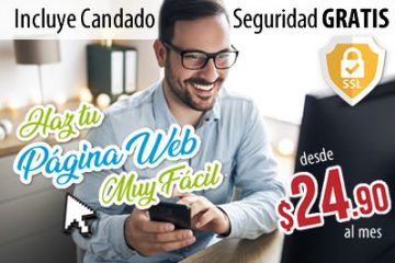 haz tu pagina web con tu hosting y dominio