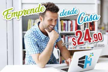 emprende desde casa, crea tu pagina web, promocion especialistas hosting octubre 2020