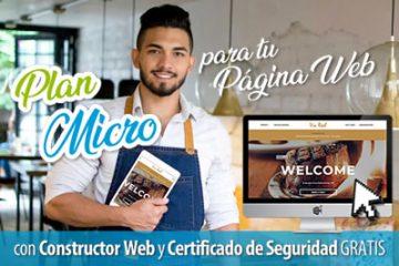plan micro promocion hosting y dominio para tu pagina web